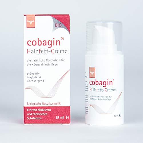 Cobagin Halbfett-Creme 15 ml | Intimpflege bei juckender und trockener Haut | Bio-Naturkosmetik