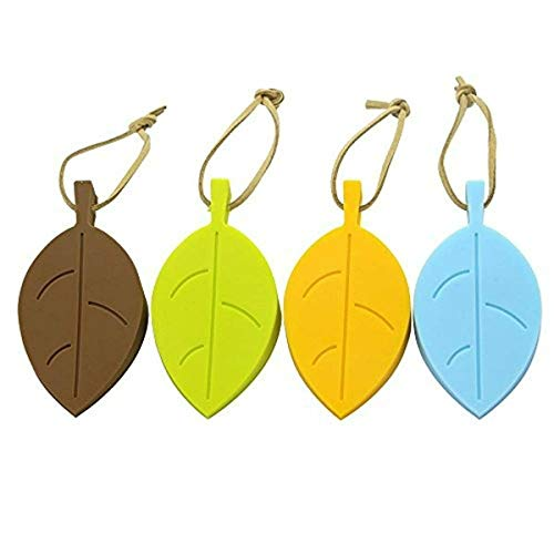Leaf Style Door Stoppers Set - Silicone Rubber Stoppers Colorful Door Stopper Wedge Finger Protector Cute Door Stoppers with Holders Silicone Window/Door Stops Baby Door Stopper for Home and Office