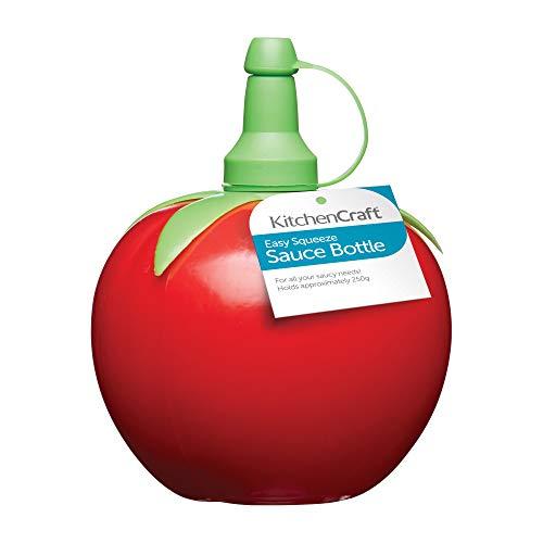 Kitchen Craft Easy Squeezy - Dispensador para salsas en forma de tomate