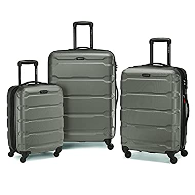 Samsonite Omni Pc 3 Piece Set Spinner 20 24 28, Silver