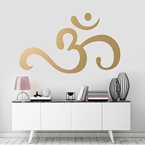Om-Symbol Wandkunst-Aufkleber, spirituelle Zimmerdekoration, abnehmbares Vinyl-Abziehbild