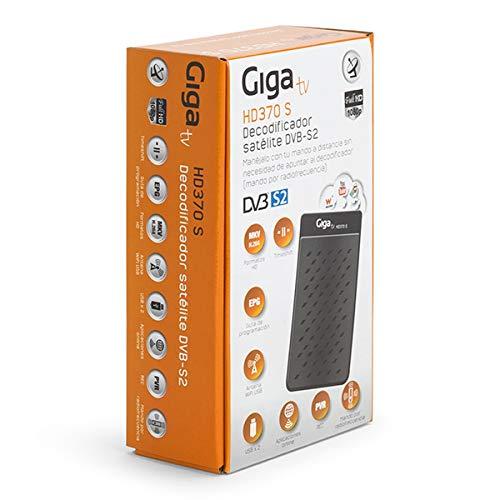 GIGATV Sintonizador HD370 S - Mini sintonizador satélite DVB-S2 con Acceso a Internet