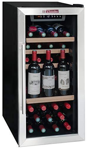 La Sommelière LS38A - Enfriador de vino (Independiente, Negro, Acero inoxidable, Negro, 4 estanterías, 1 puerta(s), Acero inoxidable)