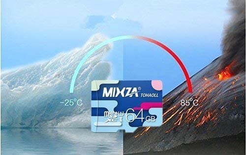 Built for Lifetime of Use! MIXZA Performance Grade 64GB Verified for Xiaomi Redmi 10X MicroSDXC Card is Pro-Speed UHS-I,U3,80MBs Heat /& Cold Resistant