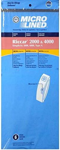 DVC Riccar Sale Simplicity Type A Regular discount Vacuum Allergen Micro Bags Cleaner