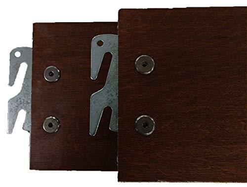 "Vaughan-Bassett Queen or King 82"" Medium Cherry Hook-On Wooden Bed Rails. Set of"