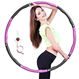 Surwit Hula Fitness Hoops For Adults Weighted Hoola For Exercise Fitness Weight Loss, 8-Section Detachable Professional Wavy Design Hoola Fitness Hoop for Child Adults…