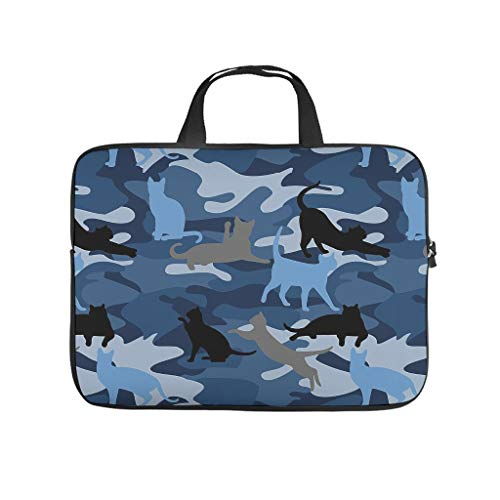 Lightweight Water-Repellent Camouflage Cat Durable Office Bag Laptop Tote Bag - for Computer Notebook White 15 Zoll