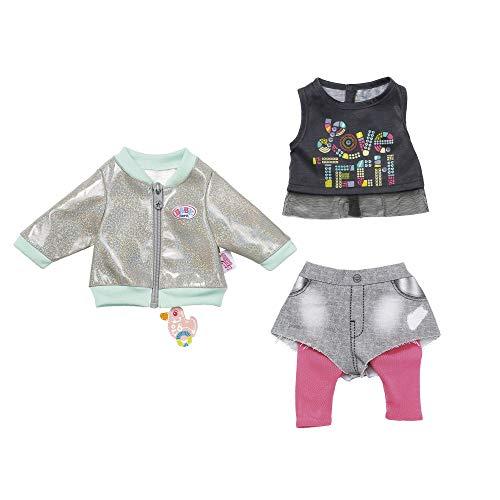 BABY Born 827154 City Outfit 43cm, rosa, grau