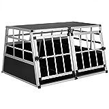 Cadoca Transportín Talla XL para Perros y Mascotas Caja Jaula de Transporte Viaje de Aluminio para Coche avión