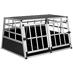 Cadoca Dog Transport Box XL robuustlockable in aluminium auto transport box Dierentransportdoos 98x70x51cm*