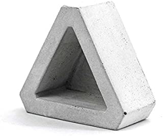 Nicole Flower Pot Silicone Mold Triangle Concrete Mould for Succulent Plants Handmade Home Decoration Tool