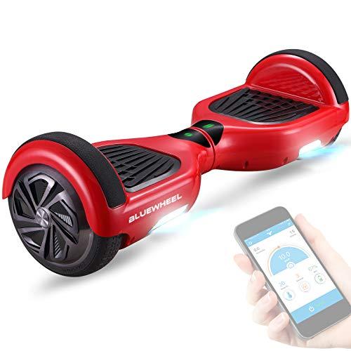 6,5' Premium Hoverboard Bluewheel HX310s - Deutsches Qualitätsunternehmen - Kinder Sicherheitsmodus & App - Bluetooth Lautsprecher - Starker Dual Motor - LED - Elektro Skateboard Self Balance Scooter