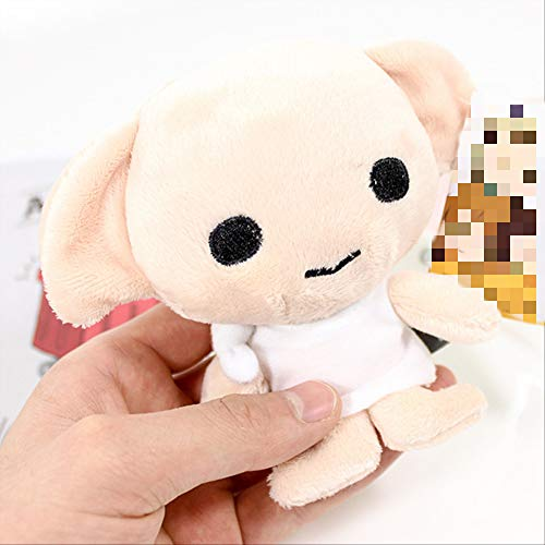 N\A Kawaii Style Hermione Ron Malfoy Dobby Hedwig Movie Puppet Plush Chain Toys para Niños Regalos De Cumpleaños 15cm yjktytyj