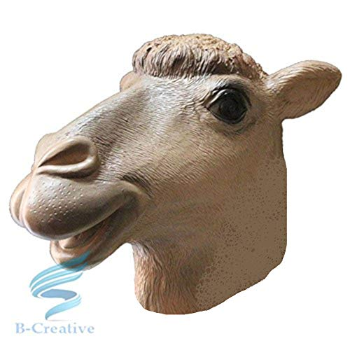 B-Creative Mscara de ltex para disfraz de carnaval (mscara de camello)
