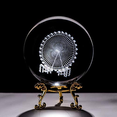 jinyi2016SHOP Crystal Ball Glass 6CM Miami Mall Max 51% OFF Orna Sphere 3D