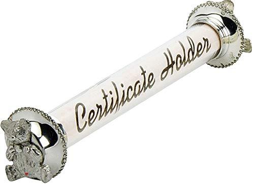 Titular de Certificado de Nacimiento para Niños con Centro de Acrílico con Tapas de Peltre de Peltre