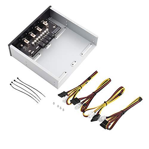 Asixxsix Selector de Disco Duro Interruptor SATA, Interruptor de Unidad SATA Interruptor de alimentación HDD, para PC para computadora de Escritorio