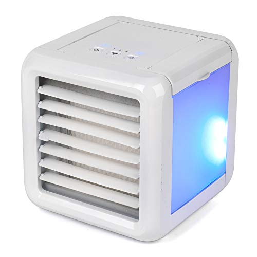 Prolectrix EH3139PRO Ice Cube Portable Table Top Air Cooler, 3 Speed Settings, LED Lights, 5 W, 2 x 300 ml Water Tanks, White