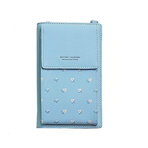 HMILYDYK Meisjes Cross Body Bag Bloemen Lederen Mini Tas Mobil Telefoon Coin portemonnee Card Houder Portemonnee Mini Schoudertas