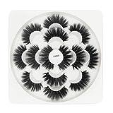 Faux Cils, 3D Réutilisable Faux cils Naturels, Faux Cils pour charmants yeux (7 Paires / 14 Pièces), MAGEY 5D faux cils