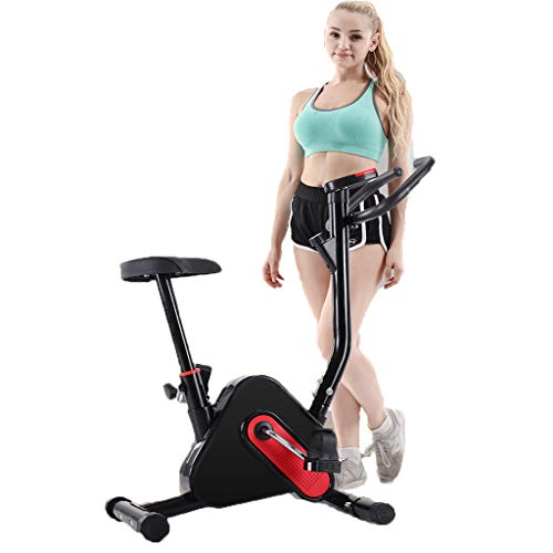 Exercise Bike, Indoor Cycling Bicycle, Stationary Bikes, Home Bicycle, Cardio Workout Machine Upright Bike, Ultra-quiet Exercise Bike (Black) Bikes Exercise indoor quiet upright