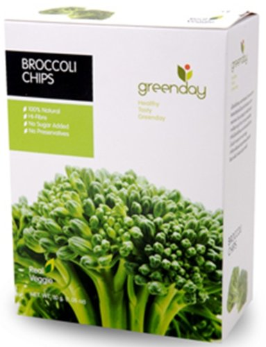 Limited time sale Green Day Thai Snack Broccoli 35 Gram security Vegetable Chips Real