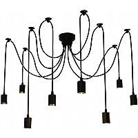 Lixada Lámpara colgante ajustable (antiguo clásico hada vintage edison) Cada 1,7 m Longitud del brazo 08 Luces