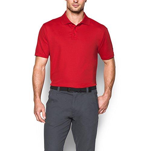 Preisvergleich Produktbild Under Armour Medal Play Performance Kurzarm-Polo-Shirt für Herren,  Rot