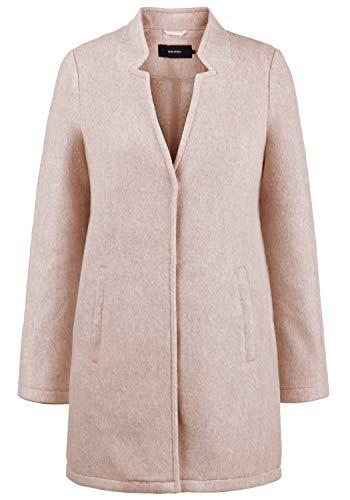 VERO MODA Mania Damen Winter Jacke Wollmantel Winterjacke Mantel Mit Reverskragen, Größe:XL, Farbe:Café Au Lait