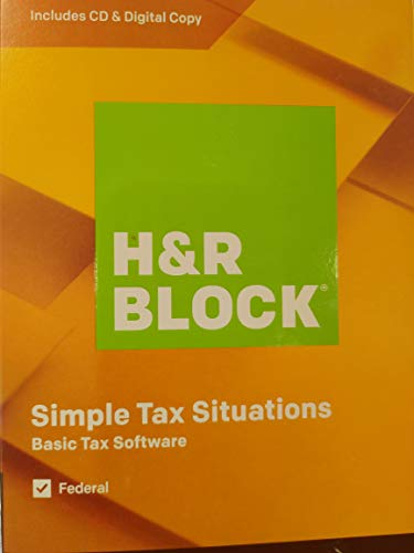 2019 H&R Block Basic Tax Return Software- Tax Year 2019 ONLY