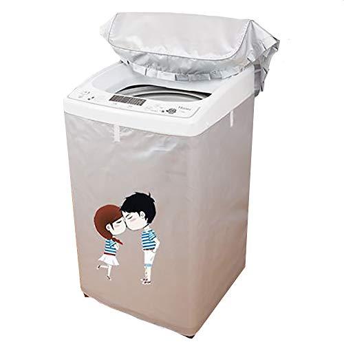 Copertura per lavatrice, copertura per lavatrice a carica dall alto, copertura per lavatrice impermeabile, resistente ai raggi UV e alla polvere, tessuto Oxford più spesso