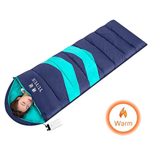 JINGJING Beheizter Schlafsack Im Freien Rechteckiger Schlafsack USB-Heizung 3 wählbare Temperaturen Winter Warm halten Erwachsener Schlafsack Geeignet für Reisen, Camping, Wandern