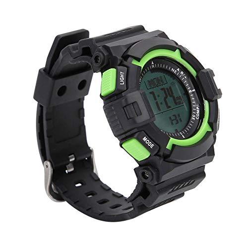 Alomejor Digitale horloge, multifunctioneel, met hoogtemeter, kompas, stopwatch, barometer, gezicht, zwart, sporthorloge buiten, voor volwassenen