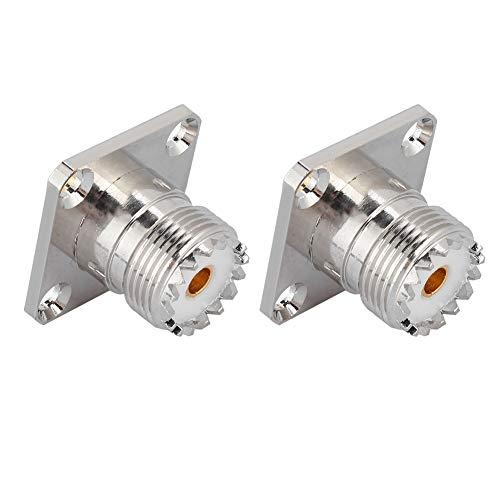 Conector hembra SO239 UHF de 2 piezas, conector de adaptador