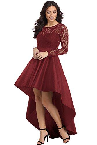 Ovender® Vestido Elegante Baile Dama Cerimonia Largo para Mujer Niñas Party Casual, Formal, Elegante, para Todo Tipo de Fiestas Model 4 Rojo XL