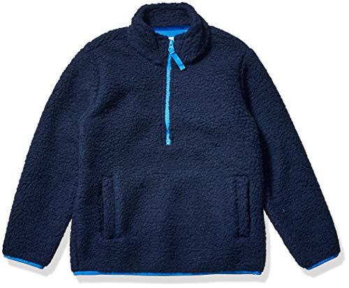 Amazon Essentials Quarter-Zip High-Pile Polar Fleece Jacket Outerwear-Jackets, Azul Marino (Washed Navy), S