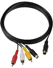 Mcbazel Cable de adaptador de vídeo compuesto de audio S-AV para Sega Saturn