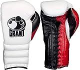 GRANT Guantes de boxeo (blanco y rojo, 14 oz)