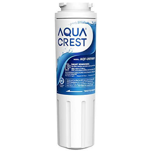 AQUACREST UKF8001 Refrigerator Water Filter, Compatible with Maytag UKF8001P, Whirlpool UKF8001AXX-750, UKF8001AXX, EDR4RXD1, 4396395, EveryDrop Filter 4, Msd2651heb (Package may vary)