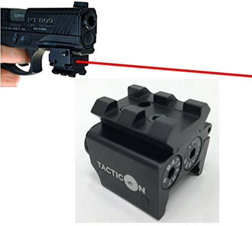 TACTICON Laser Sight | Rifle Handgun | Weaver or Picatinny Rail | Red Dot Lazer Sight Pistol | Tactical Sights Airsoft | Laser Sight | Scope Hand Gun Rifles | Laser Pointer Pistol | Air Soft Optic