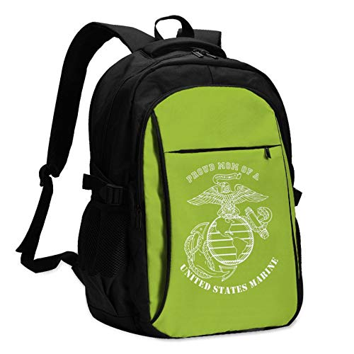 Mess with Me My Dad is a Marine Marines Daughter 1 Mans Women's Durable Women & Men Backpack with USB Charging Interface Laptop Backpack