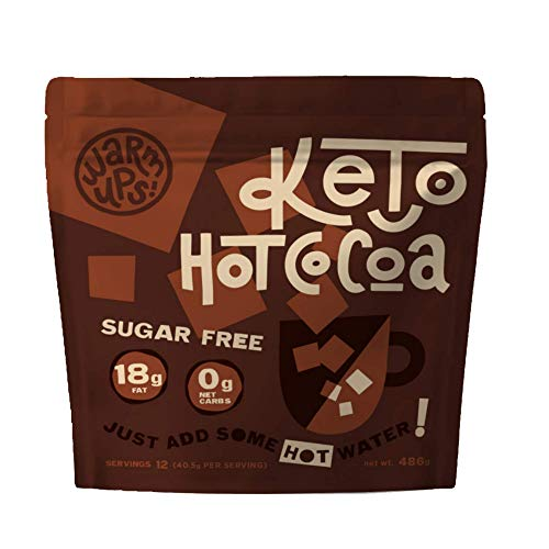 Keto Bars Warm Ups: Keto Hot Cocoa Drink Mix, Keto Hot Chocolate | Simple Ingredients Low Carb, No Sugar, Rich in Ketogenic Fats— The Perfect Keto Snacks for Keto Diet Food Products