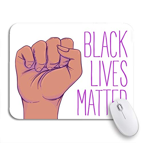 """Adowyee Gaming Mouse Pad Black Lives Matter Human Hand Fist Raised Up Girl 9.5""""x7.9"""" Nonslip Rubber Backing Mousepad for Notebooks Computers Mouse Mats"""