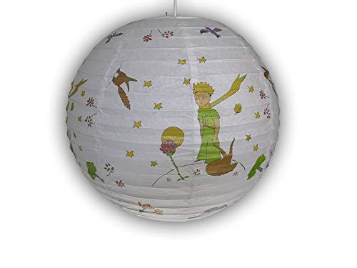 Papierlampe fürs Kinderzimmer - Lampenschirm DER KLEINE PRINZ Motiv - Pendelleuchte mit Aufhängung