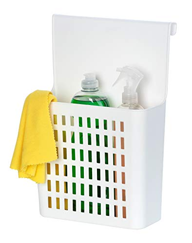 WENKO Tür-Organizer - Küchenregal zum Einhängen, 24 x 35,5 x 12 cm, weiß