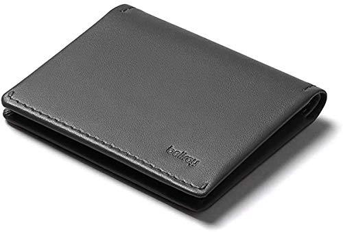 Bellroy Slim Sleeve, portafoglio sottile in pelle (max. 12 carte e banconote) - Charcoal Tangelo