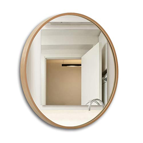 retrò Specchi a Parete tondi Appesi Grandi specchi Vanity   Specchio per Specchio da Bagno Circle Walled   Specchio cosmetico da medicazione HD, Bianco, Nero, Colore Legno