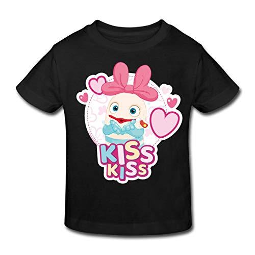 Sorgenfresser Lilli Kiss Kiss Küsschen Kinder Bio-T-Shirt, 122-128, Schwarz