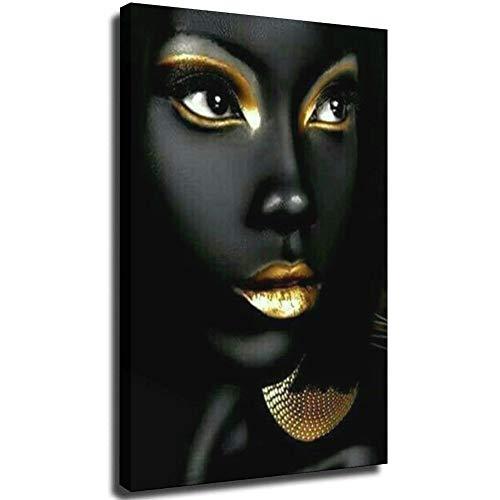 Quadro su tela donna africana per arredamento camera da letto della camera dei ragazzi 32 × 48 pollici (80 × 120 cm) UnFrame